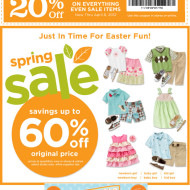 Gymboree: Spring Sale Up to 60% Off + Earn Gymbucks On Purchases Thru 4/8!