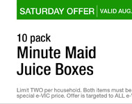 Harris Teeter: Minute Maid Juice Box 10 Pack, Super Deal at Only $0.27 Per Pack!
