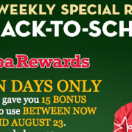Papa John's Rewards: FREE 15 Points for Back-to-School (Possible Free Pizza!)