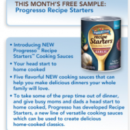FREE Can of Progresso Recipe Starters Cooking Sauce (Pillsbury Members Only – 1st 10,000!)