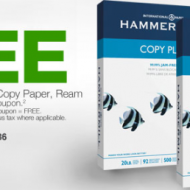 Staples Back to School Deal: FREE HammerMill Copy Paper (After Coupon and Rebate, Thru 8/25)