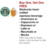 New Target Mobile Coupons: Buy 1 Get 1 FREE Starbucks Beverage, Duracell Batteries, Similac Baby Bottles + More!