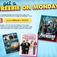 Redbox: Get a FREE Rental Tomorrow, 10/8/12 (When You Join the Redbox Text Club)
