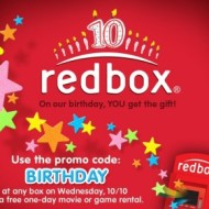 Free Redbox Movie or Game Rental From 10/10 and 10/11