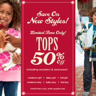 Gymboree: 50% Off Tops + 20% Coupon + FREE Shipping With $50 or More Purchase!