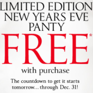 Victoria's Secret: FREE Limited Edition New Year's Eve Panty w/ ANY Purchase (Valid 12/29-12/31)