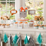 Baby Shower Theme Idea: Bundle of Bots Baby Shower from Pottery Barn Kids and Hostess With The Mostess