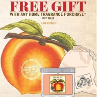 Bath & Body Works Spring Market Event: FREE Peach Candle and Gift Bag with Purchase (Tomorrow Only)