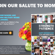 Free Flowers for Military Moms from Dove