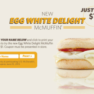 McDonald's: Egg White Delight McMuffin Just $1 + Buy One, Get One FREE Big Mac on Memorial Day Weekend