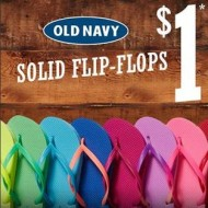 Old Navy: $1 Flip Flops Sale on Saturday (6/29 Only) + 10% Off Printable Coupon