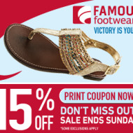 Retail Deals and Coupons: Famous Footwear, JCPenney, Old Navy and Macy's
