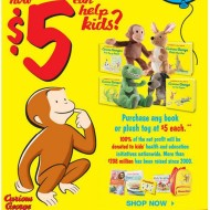 Kohl's: New Curious George Collection of Plush Toys, Books and Backpack Now Available for Only $5 Each + Win a Curious George Back-to-School Gift Pack!