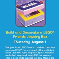 Reminder: LEGO Stores FREE Mini Building Event Today (August 6th)