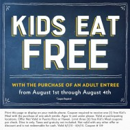 Romano's Macaroni Grill: Kids Eat FREE Now Through August 4th + $5 Off Coupon with Email Sign Up