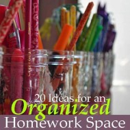Great Read for Back-To-School: 20 Ideas For An Organized Homework Space