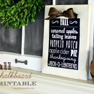 FREE Printable Fall Poster Decor For Your Mantle