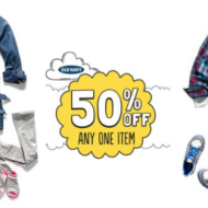 Old Navy: 50% Off ANY One Item TODAY ONLY (September 14th)