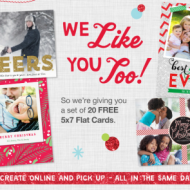 Walgreens: Score 20 FREE 5×7 Cards + FREE In-Store Pick Up!