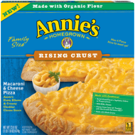 Annie's Mac & Cheese Rising Crust Pizza Review + Giveaways!  #MacAndCheesePizza
