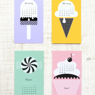 More Sweet (And Free) Printable 2014 Calendars!
