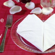 Cute Valentine's Day Idea: Valentine's Day Heart Napkin Fold
