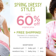 Gymboree: FREE Shipping Until 4/1 (No Minimum) + 10% Off Coupon and Earn $25 Gymbucks with Every $50 Purchase