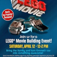 Toys R' Us:  FREE LEGO Movie Building Event on April 12th