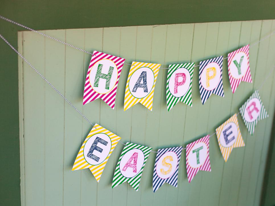 free printable Happy Easter banner