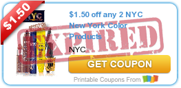 $1.50 off any 2 NYC New York Color Products