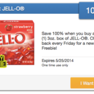 Freebie Friday: A Box of JELL-O, Pillsbury Heat-N-Go Mini Pancakes, refreshe ICE Sparkling Water and More!