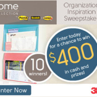 3M Organization Inspiration Sweepstakes: Win $400 in Cash and Prizes (Pin To Win)