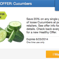 SavingStar Healthy Offer: 20% Cash Back on Cucumbers Purchase + Why I Love Cucumbers