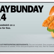 *TODAY ONLY* Carl's Jr. & Hardee's: Buy One, Get One FREE Big Chicken Fillet Sandwich