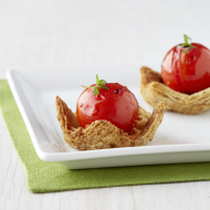 Roasted Cherry Tomato Triscuit Cups {Recipe}
