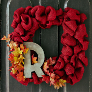 DIY Fall Burlap Wreath + Craft Store Coupons for the Week