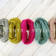 *TODAY ONLY* Cute Two-Tone Infinity Scarves, Only $9.95 Each with FREE Shipping