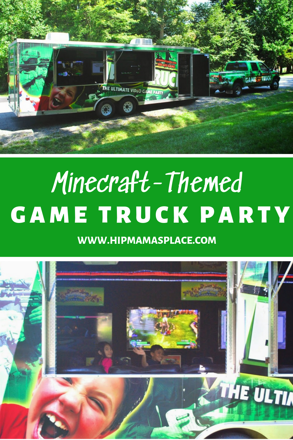 Minecraft-Themed Game Truck Party