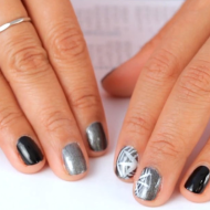 For Halloween: DIY Spiderweb Accent Nails