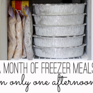 Frugal Idea: Make a Month of Freezer Meals in One Afternoon