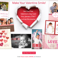 Cherishables.com: Get a FREE Personalized Valentine's Day Card, Just Pay 99¢ Shipping (Thru 1/27 Only)