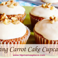 Welcoming Spring: Carrot Cake Cupcakes with Cream Cheese Frosting  {Recipe}