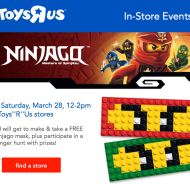 Toys R'Us: FREE LEGO Ninjago Mask Event for Kids on 3/28