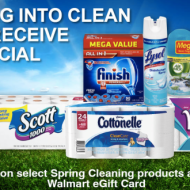 Walmart: Free $5 Walmart eGift Card with Select $25 Spring Cleaning Products Purchase