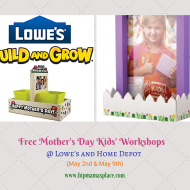 Lowe's & Home Depot: FREE Kids' Workshops on May 2nd and May 9th