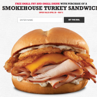 Arby's: FREE Small Fry and Drink When You Buy a Smokehouse Turkey Sandwich