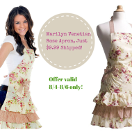 Flirty Aprons: Women's Marilyn Venetian Rose Apron, Only $9.99 Shipped (3 Days Only!)