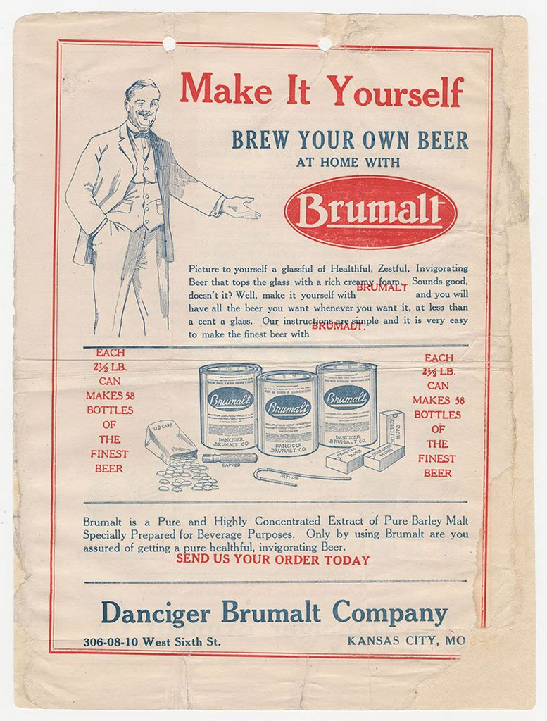 Brew Your Own Beer Ad, 1919
