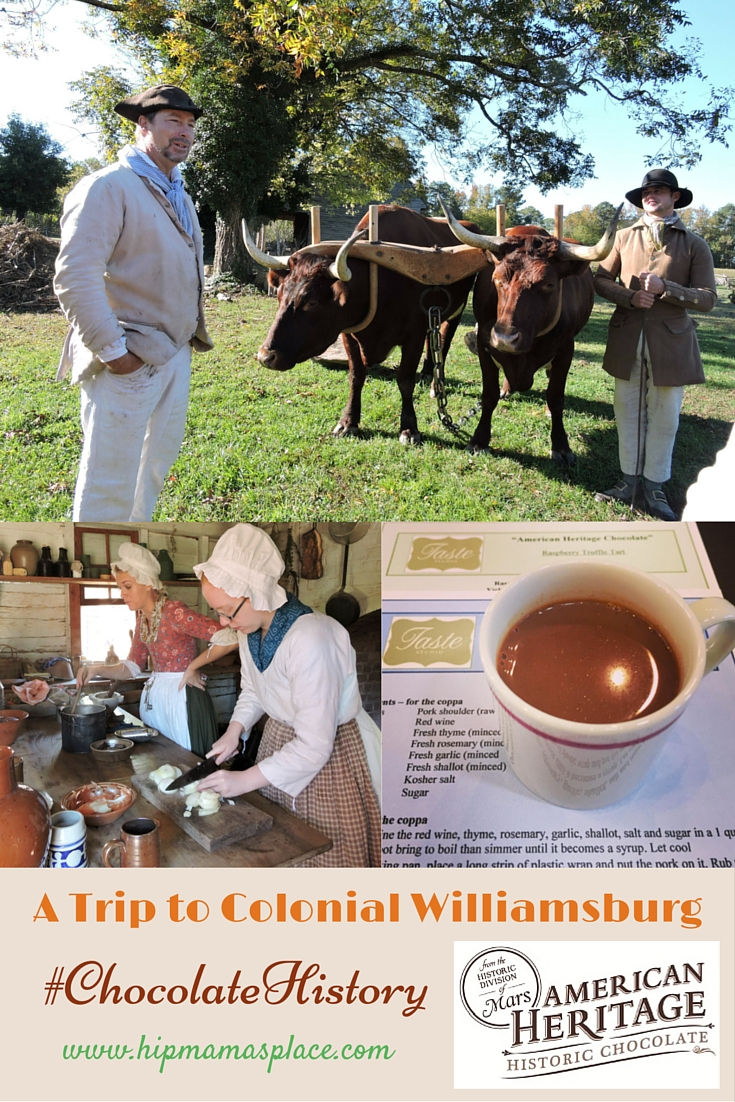 Colonial Williamsburg #ChocolateHistory Tour