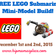 LEGO Stores: FREE LEGO Submarine Mini Model Build on December 1st and 2nd